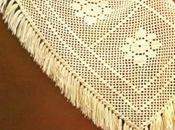 Lavori l'uncinetto: Scialle bianco rombi