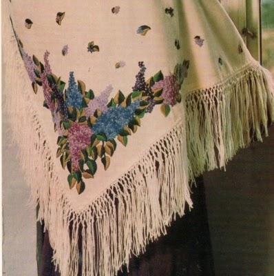 grandi affari 2017 di buona qualità negozio online Ricamo classico:Scialle ricamato con fiori di lillà - Paperblog