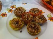 Muffin alla zucca cuore gorgonzola fondente
