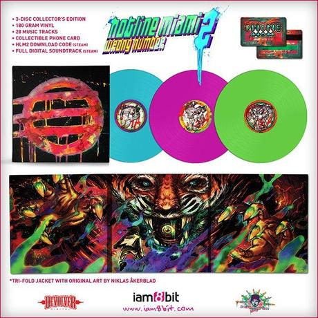 La Collector's Edition di Hotline Miami 2: Wrong Number include anche dischi in vinile