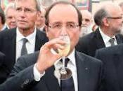 François Hollande boit champagne: fait riche