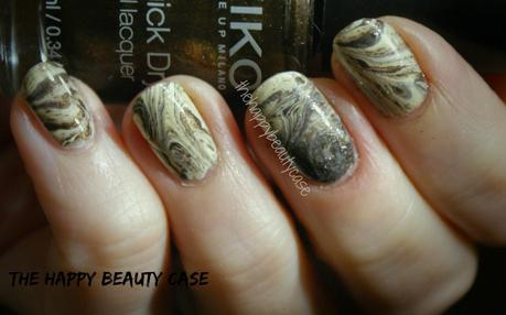 [Winter Nail Art Challenge] #7 Ornaments (in yellow and brown)