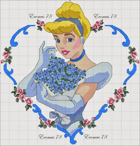 Grande raccolta personaggi Disney a punto croce - Paperblog