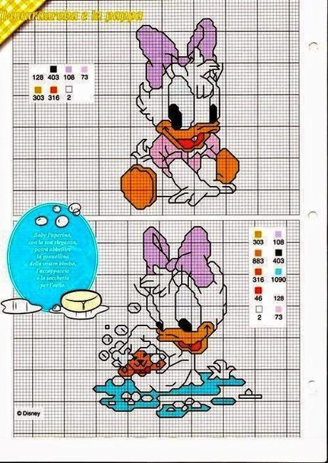 Popolare Grande raccolta personaggi Disney a punto croce - Paperblog MH01