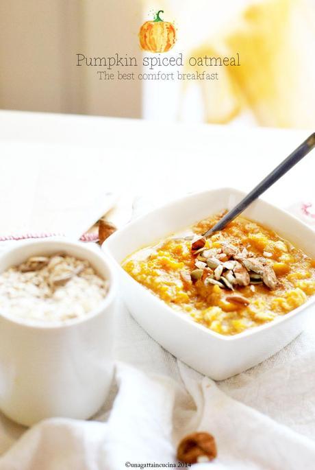 Pumpkin spiced oatmeal - Paperblog