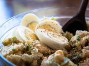 Insalata pollo, patate uova come Angeles