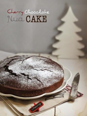 Cherry Chocolate Nua cake
