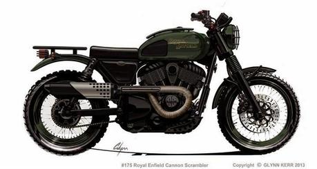 Design Corner - Royal Enfield-Indian Cannon Series by Glynn Kerr