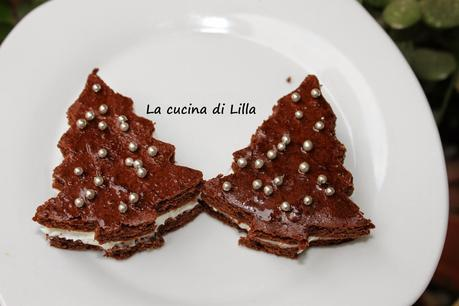 Dolci: Alberelli di Natale con crema al mascarpone