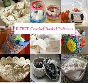 Cestini Alluncinetto Schemi Free Crochet Baskets Paperblog