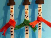 Lavoretti bambini: Pupazzo neve stecchini legno