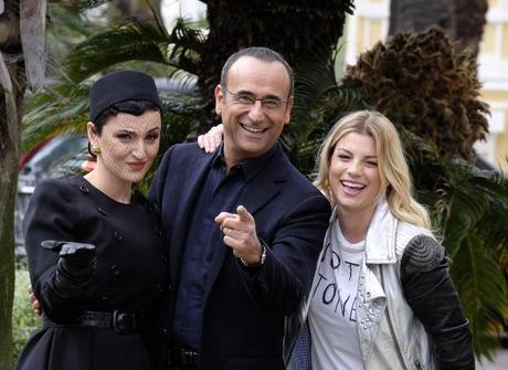 Sanremo 2015: Arisa, Emma e Rocio Munoz Morales vallette di Conti