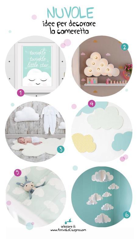 Nuvole 6 idee per decorare la camera dei bimbi paperblog for Idee per decorare la camera