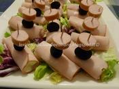 Rotolini veloci prosciutto, philadelphia, wurstel olive