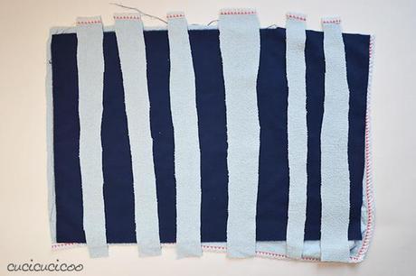 Come cucire un tappetino da bagno ricicloso paperblog - Come cucire costume da bagno ...