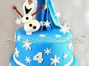 Torta decorata Frozen cake Disney: Elsa OLaf pasta zucchero