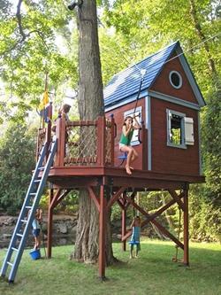 La casa sull albero può diventare luogo di giochi o magnifica camera