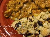 Bocconcini pollo, paprika curry riso basmati contorno cavolfiore