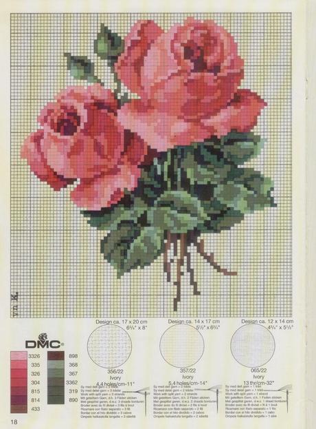 Raccolta di schemi a tema rose paperblog for Schemi di cabina di log