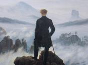 Un'opera d'arte mese viandante mare nebbia