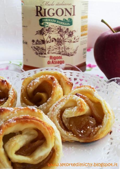 Rose di sfoglia alle mele e miele