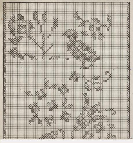 Disegni A Filet Per Tende.Schemi Per Il Filet Tende Con Fiori E Uccelli Paperblog