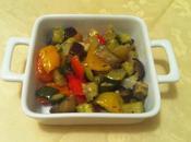 Melanzana peperoni zucchine patate forno