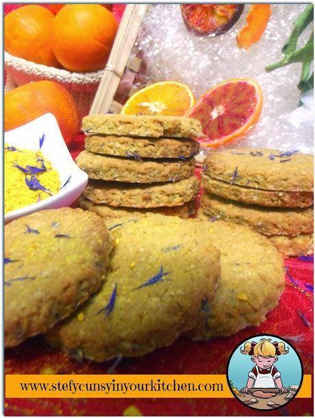 Biscotti di avena - fiordalisi all'arancia