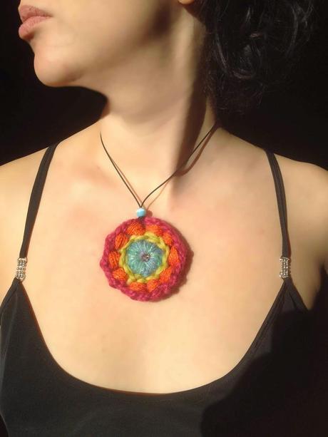 Collana Mandala Ad Uncinetto In Esclusiva Per Creattiva Bergamo