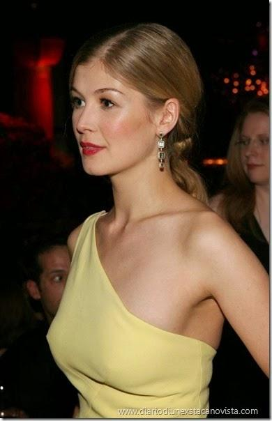 rosamunde pike in yellow