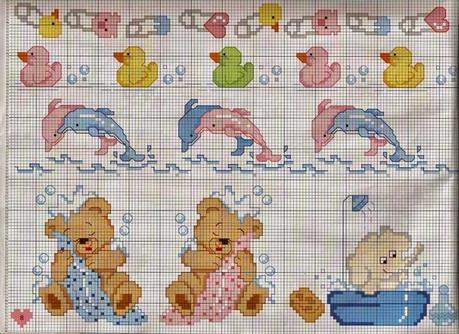 Schemi punto croce per bambini e neonati paperblog for Ricami neonati punto croce