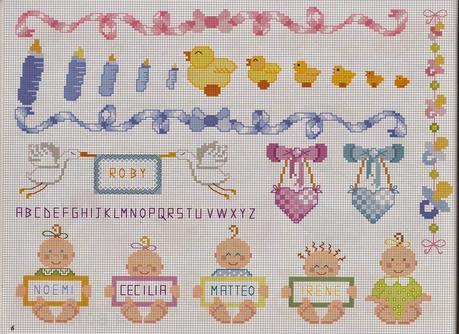 Schemi punto croce per bambini e neonati paperblog for Ricami punto croce neonati