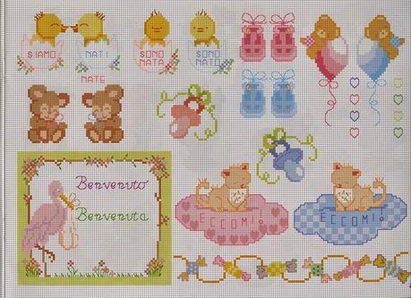 Schemi punto croce per bambini e neonati paperblog for Idee punto croce bimbi