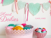 Heart doilies garland