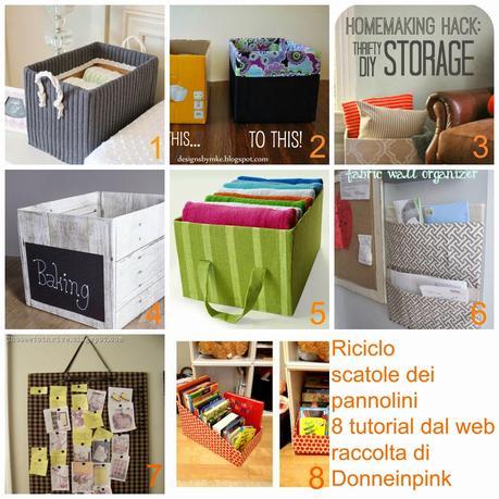 Riciclare i cartoni dei pannolini riciclo scatole 8 for Foderare una scatola