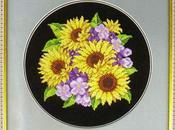 deliziosi quadretti floreali ricamare punto croce