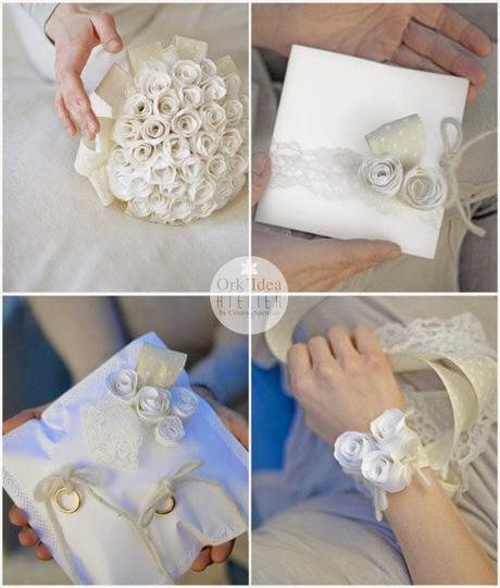 Matrimonio Simbolico Come Fare : Tutorial come fare un cuscino portafedi di carta con