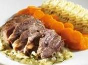 Stracotto guancia vitella alla piemontese, carote vichy spuma patate