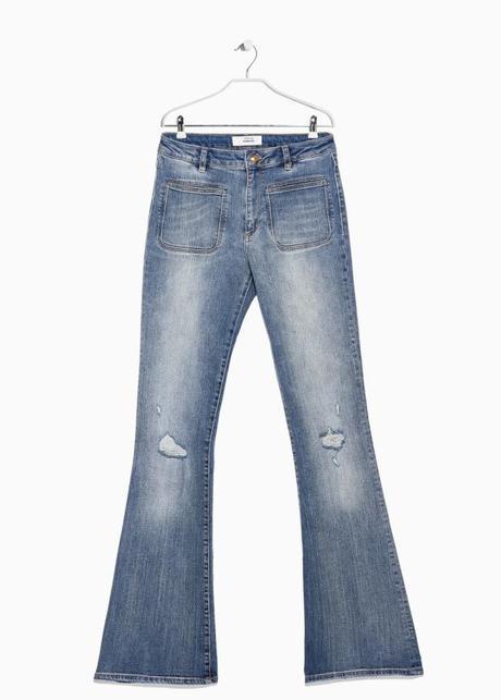Mango, pe15, pantaloni a zampa New Flare