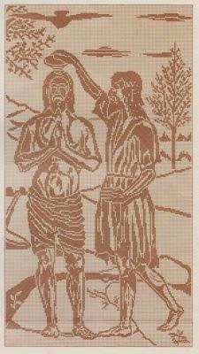 Schemi per il filet battesimo di cristo paperblog for Schemi di cabina di log
