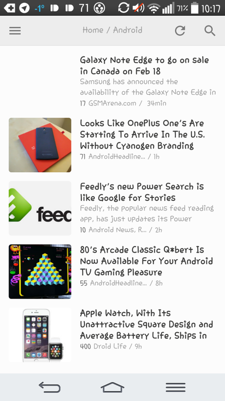 screen feedly