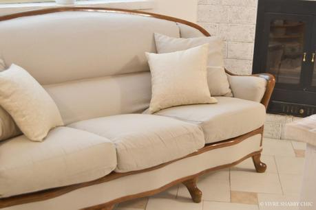 Restyling di un vecchio divano paperblog for Divano shabby