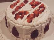 Torta Valentino: panna vegetale fragole