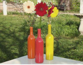 Fiori colori e riciclo paperblog - Portafiori in vetro ...