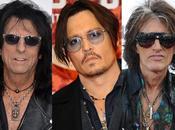 Hollywood Vampires: Johnny Depp rockstar Alice Cooper Perry