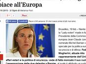 """""""Grande Successo"""" semestre presidenza italiana della finisce vacca: esautorata Mogherini"""