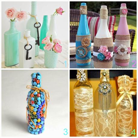 Riciclare bottiglie di vetro 9 tutorial di riciclo for Immagini da dipingere su vetro