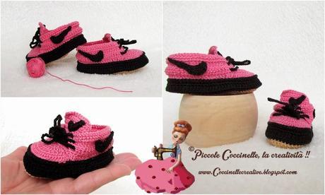 Scarpette Stile Nike Realizzate A Uncinetto Paperblog