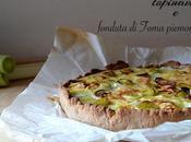 Torta rustica farina castagne, besciamella porri, topinambur fonduta toma piemontese
