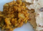 Curry cavolfiore patate paratha